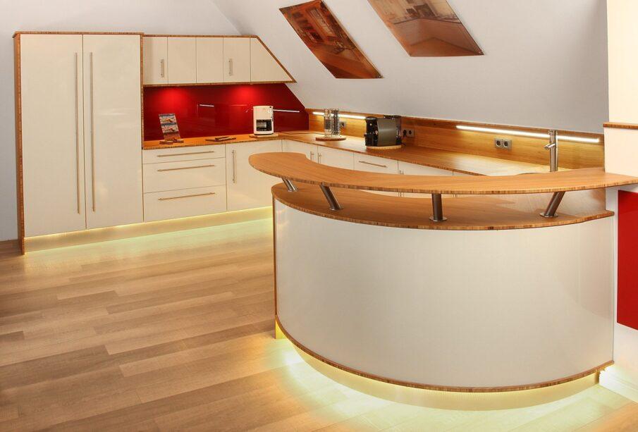 Kitchen Modern Illuminated Kitchen Countertop